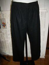 Pantalon CHAUD polyester noir stretch taille elastique GEVANA FRANCE 48 16ET46