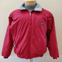 Vintage Patagonia Bomber Jacket Fleece Lined 90s Made USA Red Mens Small