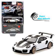 Mini Gt 1:64 Porsche 911 Gt2 Rs Gt Weissach Package (White) #86