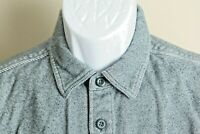 Patagonia Men's blue and white detailed long sleeve Flannel Shirt Medium M fjord