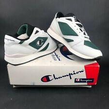 Vintage Champion 10K RM2520 Mens 10.5 White Green Black Training Sneakers VTG DS