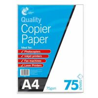75 Sheets of A4 75gsm White Printer Copier Paper Office Home Copy Top Quality