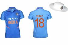 Prints Dri Fit Indian Cricket Jersey 2019 for Cricket Fans and HAT (virat Large)