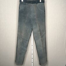 Equestrian Pants S Womens Blue Suede Riding