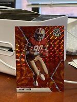 2020 NFL Mosaic Jerry Rice Reactive Orange Prizm 49ers