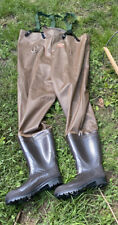 RED BALL INSULATED Mens Brown Fishing Hunting Wading Pants w/ Boots Union Made