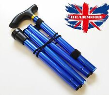 Blue Cane Walking Adjustable Stick Foldable Fold Up Travel Tip Slip Aluminum uk