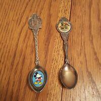 VTG Disneyland Enamel Castle Souvenir Spoon Walt Disney Productions Mickey 82 99