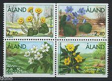 Aland/Åland 1997, Flower set in block of four MNH