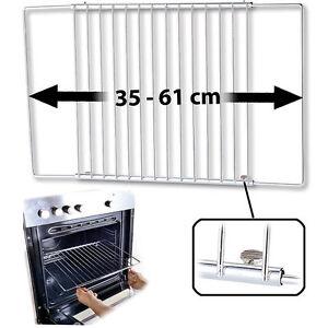 Backofengitter: Universal-Backofenrost, ausziehbar von 35 - 61 cm, 32 cm tief