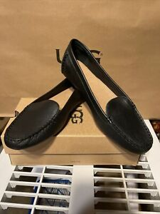 UGG Australia Women's Flores Leather Loafers Slip On Shoes Size 12