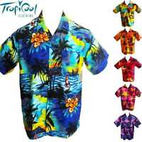 Sunset Mens Hawaiian Shirts RAYON Bucks Party Cruise Fancy Dress
