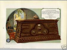 1927 PAPER AD Ozarka Table Radio Speaker Osgood Commercial Printing Award Winner