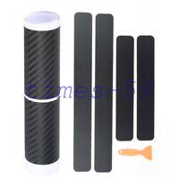 3D Carbon Schwarz Folie Schutz Kratzer für Premium Ladekantenschutz 60/40*6.8cm