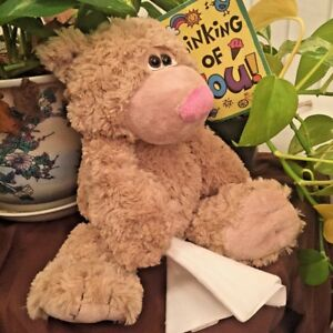"Sick Teddy Bear Cold Get Well Soon Sneeze Flu Tissue Stuffed Animal 12"" WR17208"