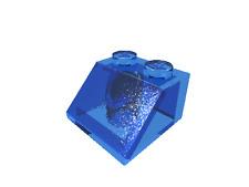 10 x [neu] LEGO Dachstein 45° 2 x 2 - transparent-dunkelblau - 3039