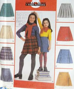 McCALLS 2352 Childs Divided Skirt Skorts 8 Variations  Sz 4-5-6  NEW/UNCUT