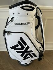 PXG Tour Staff Bag All White With Rain Cover