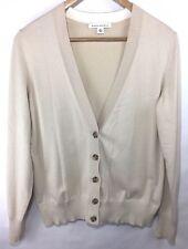 BANANA REPUBLIC Size Medium Beige Brown Cardigan Sweater Top Buttons Camel White