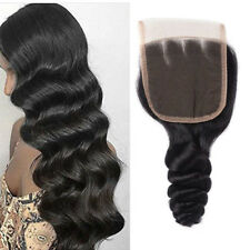 Real Human Hair Extensions Lace Closure Weave Weft Curly Top Lace Front Closure