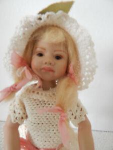 "Berdine Creedy MAGNEKIDS  POUTY PIA 10"" ecru crochet dress by Berdine's Mother"