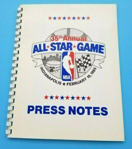1985 NBA ALL STAR GAME  - MEDIA PRESS NOTES GUIDE - MICHAEL JORDAN 1st ALL STAR
