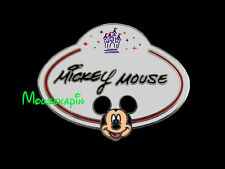 MICKEY MOUSE - NAME BADGE  Disneyland HK 2010 Disney Mystery Pin