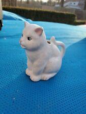 Vintage Kitty Cat Creamer Teapot Porcelain Ceramic White Cat
