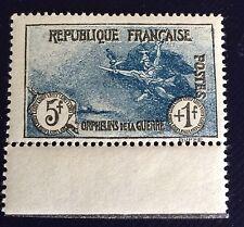France N° 232 5+ 1 F Bleu 3 Eme Orphelins Neuf** Bord De Feuille TB  Côté 300€