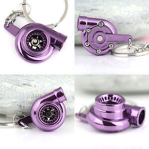 Creative Hot Spinning Turbo Turbine Keychain Key Chain Ring Keyring Keyfob