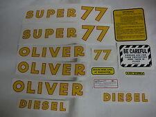 Oliver Super 77 Diesel Tractor Decal Set