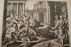 GRAVURE SUR CUIVRE JEREMIE PROPHETE-BIBLE 1670 LEMAISTRE DE SACY (B145)