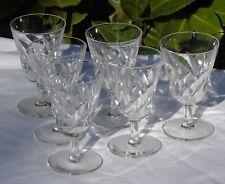 Saint Louis - Service de 6 verres à vin en cristal, modèle Bidassoa Signés