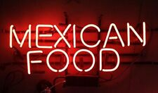 "Mexican Food Neon Sign 20""x10"" Light Lamp Beer Bar Display Artwork Windows"