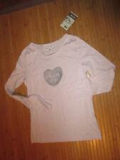 Tee-shirt rose clair à motif,T12ans,marque CFK,NEUF!