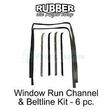 1981 1982 1983 1984 1985 Chevy GMC Truck Suburban Window Run & Beltline Kit 6 pc