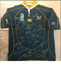 RUGBY WORLD CUP 2007 SIGNED SOUTH AFRICA JERSEY INCL. NELSON MANDELA WITH COA