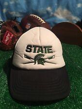 MSU Michigan Sate University Snapback Hat Cap Lacrosse Or Rowing ? H32
