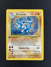 More details for machamp 8/102   wotc base set   1st edition   mint condition pokemon card