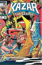Ka-Zar The Savage Comic Book #31, Marvel 1984 NEAR MINT NEW UNREAD