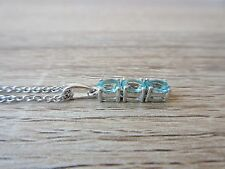Madagascar Paraiba Apatite Pendant with Chain in Platinum Over Sterling Silver