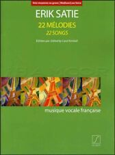 Erik Satie 22 Songs for Medium/Low Voice Vocal Music Book SAME DAY DISPATCH
