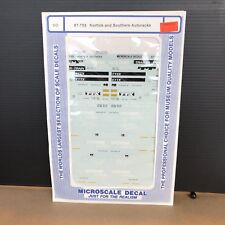 HO MICROSCALE DECAL 87-705 NORFOLK AND SOUTHERN AUTOTRACKS