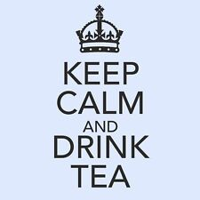 KEEP CALM AND DRINK TEA Kitchen/Dining Room/Cupboard Wall Art Sticker - Small