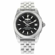 Breitling Galactic 36 Black Index Dial Steel Quartz Watch W7433012/BE08-376A