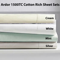 Ardor 1500TC Cotton Rich Sheet Set King & Queen Bed