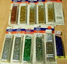 Nice Lot of 11 Assorted Colored GLITTER for Crafts