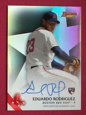 2015 Bowman's Best #B15-ER EDUARDO RODRIGUEZ ROOKIE AUTOGRAPHED REFRACTOR Card