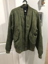 NWOT - G-Star Raw Bomber Jacket - Forest Green Size L Mens