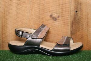 SAS 'Nudu' Dusk Two Tone Leather Slingback Ankle Strap Sandals Sz. 6.5 M